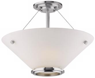 "Forecast Town and Country 20"" Nickel Ceiling Light (G5085)"