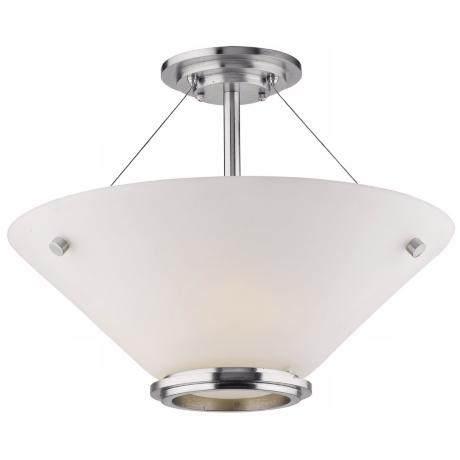 "Forecast Town and Country 20"" Nickel Ceiling Light"