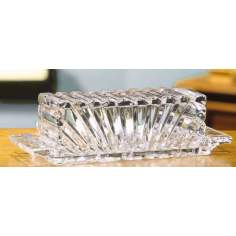Alexandria Crystal Butter Dish Covered
