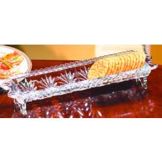 Portico Lead Crystal Cracker ServingTray