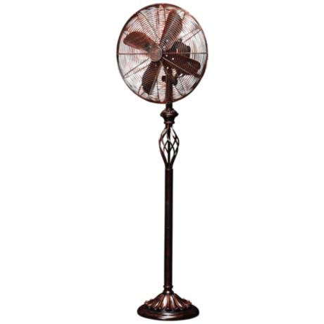 "Prestige Rustica 55 1/2"" High Floor Standing Fan"