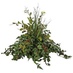 Grape Leaf Nandana Birch Sticks Faux Floral Arrangement