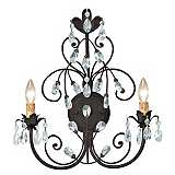 Victoria Collection Dark Rust 2-Light Swarovski Wall Sconce