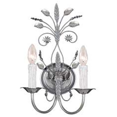 "Paris Flea Market Collection 17"" High Silver Wall Sconce"