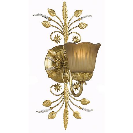 Primrose Collection Gold One Light Swarovski Wall Sconce