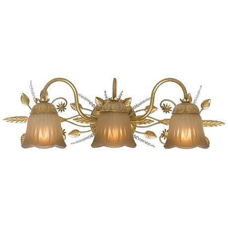 "Primrose Collection Gold 24"" Wide Bathroom Light Fixture"