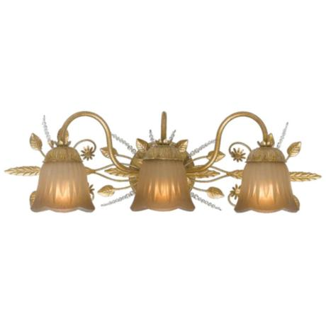primrose collection gold 24 wide bathroom light fixture g6365