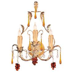 "Ritz Collection 17"" High Three Light Wall Sconce"