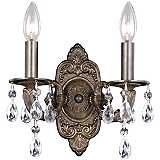 "Sutton Collection Bronze 11"" High Two Light Wall Sconce"