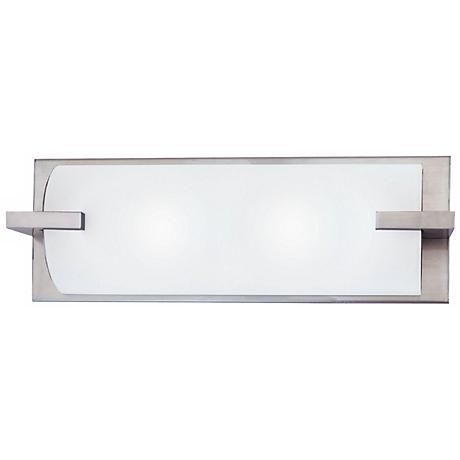 "Sonneman Edge 16"" Satin Nickel Bath Light Fixture"