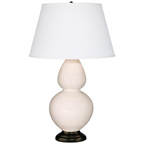 "Robert Abbey 31"" White Ceramic and Bronze Table Lamp"