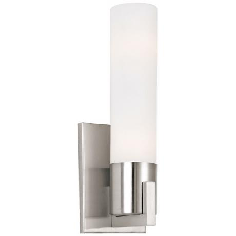 "Sonneman Ultra Slim 13"" High Satin Nickel ADA Wall Sconce"