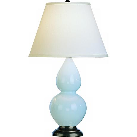 "Robert Abbey 22 3/4"" Light Blue Ceramic Table Lamp"