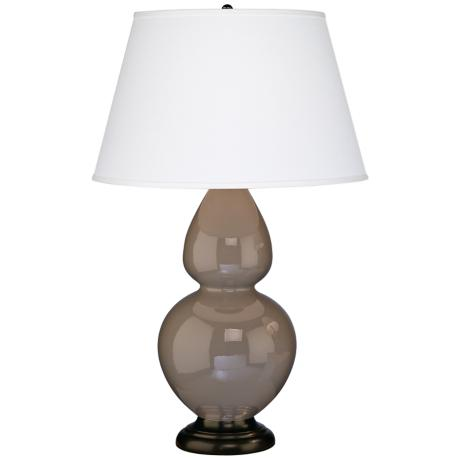 "Robert Abbey 31"" Taupe Ceramic and Bronze Table Lamp"