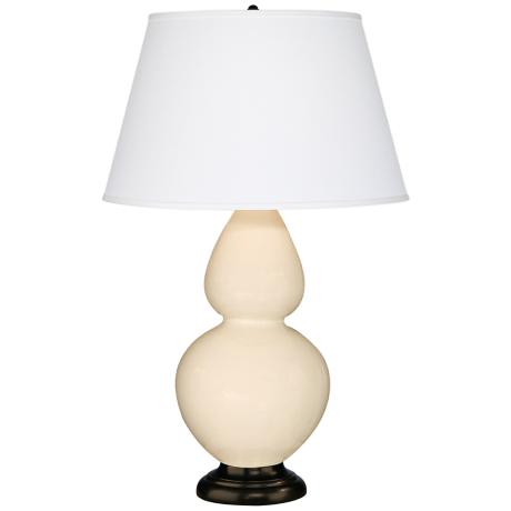 "Robert Abbey 31"" Bone Ceramic and Bronze Table Lamp"