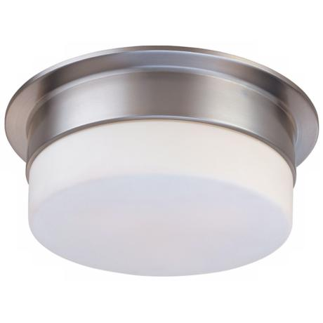"Sonneman Flange 12"" Satin Nickel Ceiling Light Fixture"