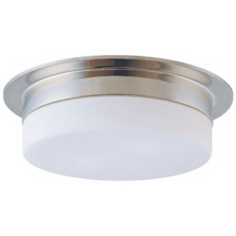 "Sonneman Flange 15"" Polished Nickel Ceiling Light Fixture"