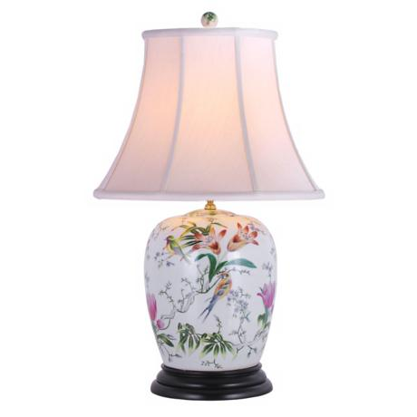 Lily Ginger Jar Porcelain Table Lamp