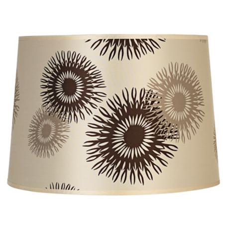 Lights Up! Tan Cornflower Shade 14x16x11 (Spider)
