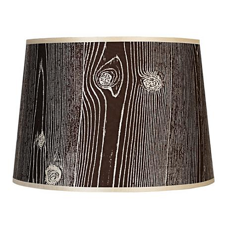 Lights Up! Faux Bois Dark Lamp Shade 12x14x10 (Spider)