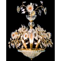 Crystal Bloom Four Light Pendant Chandelier