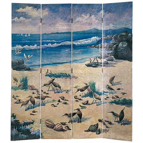 North Shore Hand Painted Screen