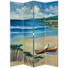 Sunny Beach Hand Painted Screen