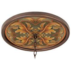 "Etruscan Sunset 16"" Wide Bronze 1"" Opening Medallion"