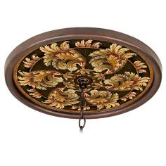 "Corinthian Jewel 16"" Wide Bronze 1"" Opening Medallion"