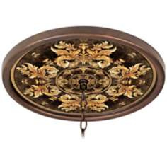 "King's Way 16"" Wide Bronze 1"" Opening Medallion"