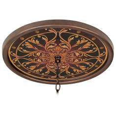 "Tracery Jewels 16"" Wide Bronze 1"" Opening Medallion"