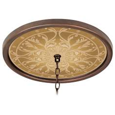"Tracery Spice 16"" Wide Bronze 1"" Opening Medallion"
