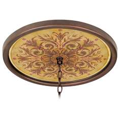 "Tuscan Wine 16"" Wide Bronze 1"" Opening Medallion"