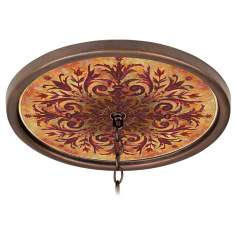 "Tuscan Fire 16"" Wide Bronze 1"" Opening Medallion"