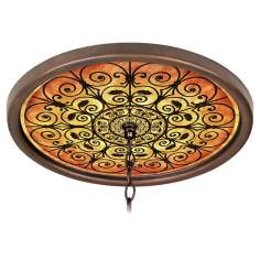 "Madrid Spice 16"" Wide Bronze 1"" Opening Medallion"
