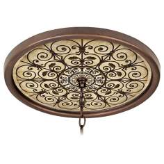 "Madrid Clay 16"" Wide Bronze 1"" Opening Medallion"