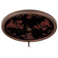 "Red Pagoda Giclee Bronze 16"" Wide 1"" Opening Medallion"