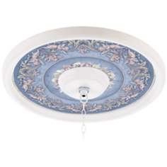 Camelot Manor Sky 16 Inch Wide White 4 Inch Opening Medallion