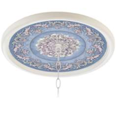 "Camelot Manor Sky 16"" Wide White 1"" Opening Medallion"