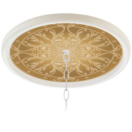 "Tracery Spice 16"" Wide White 1"" Opening Medallion"