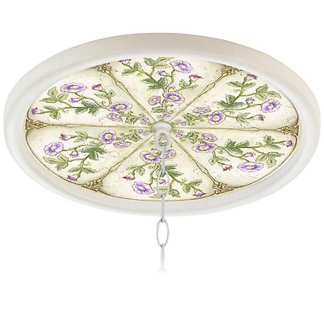 "English Garden Lavender 16"" Wide 1"" Opening Medallion"