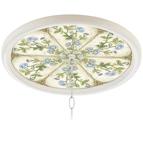 "English Garden Sky White 16"" Wide 1"" Opening Medallion"