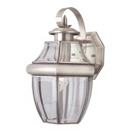 "Acorn Brushed Nickel 13"" High Lantern Outdoor Light"