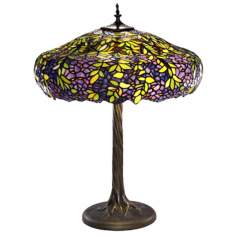 Labumum Tree Tiffany-Style Table Lamp