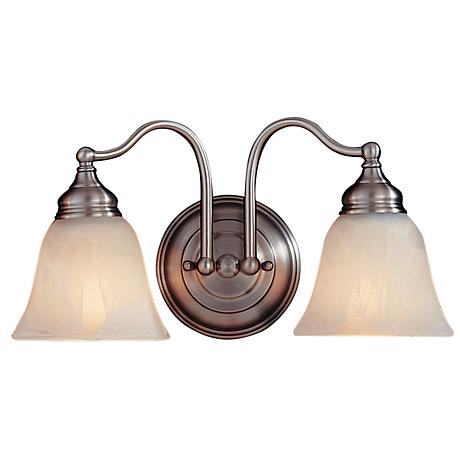 "Feiss Bristol Collection 15"" Wide Pewter Bath Light"