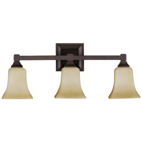 "American Foursquare Collection 22"" Wide Bathroom Light"