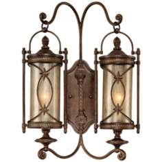 "Valais Collection 21 1/4"" High Outdoor 2-Light Wall Lantern"
