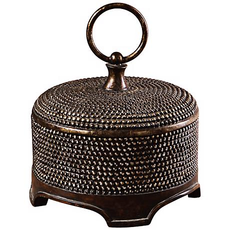 Dark Chestnut Finish Decorative Box