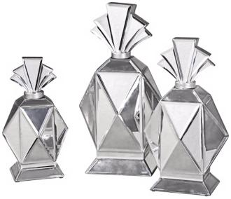Set of Three Alanna Perfume Bottles Bath Body from lampsplus.com