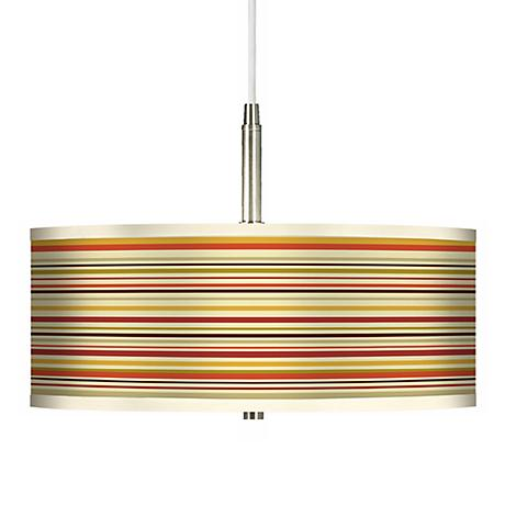 Stacy Garcia Lemongrass Stripe Giclee Pendant Chandelier